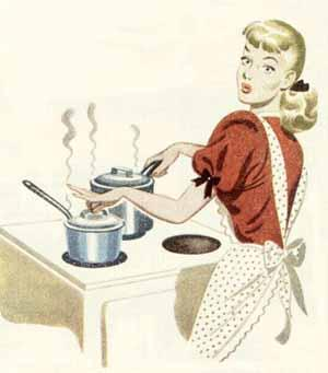 Retro woman-cooking